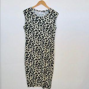 Zara TRF Leopard Animal Print T Shirt Dress